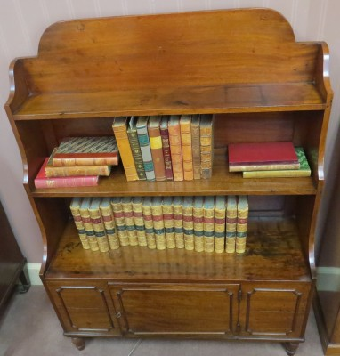 English Mahogany Open Bookcase