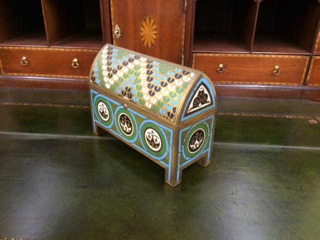 A Moorish Cloisonne Casket