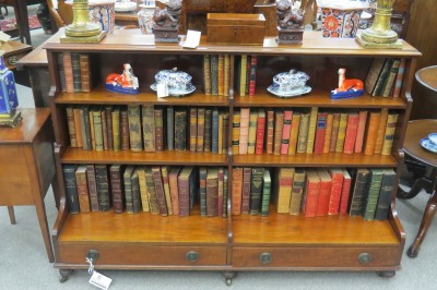 An Early Victorian Three Tiered Mahogany Book Shelf