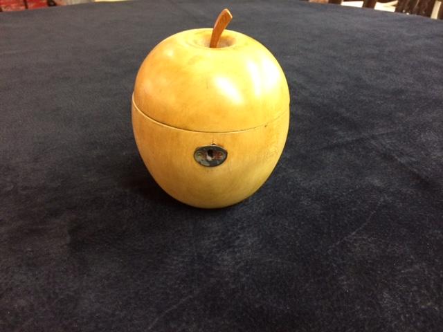 Apple Form Fruitwood Tea Caddy