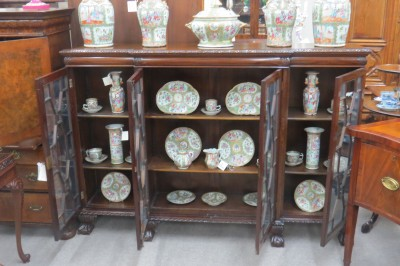 Chippendale Mahogany Breakfront Bookcase  (SOLD)