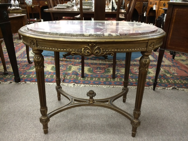 Gilt Wood Salon Table