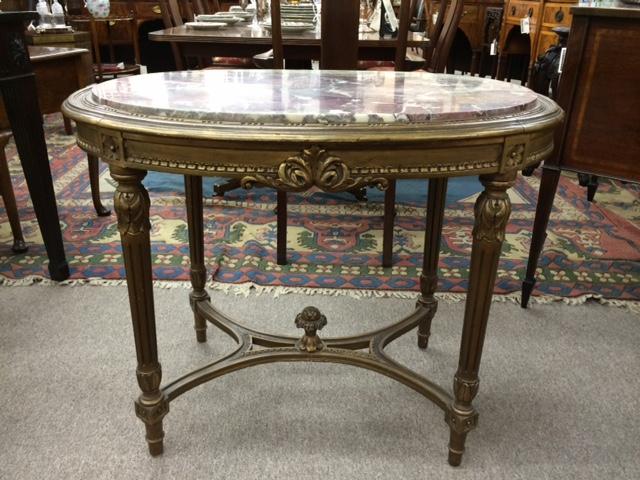 Gilt Wood Salon Table