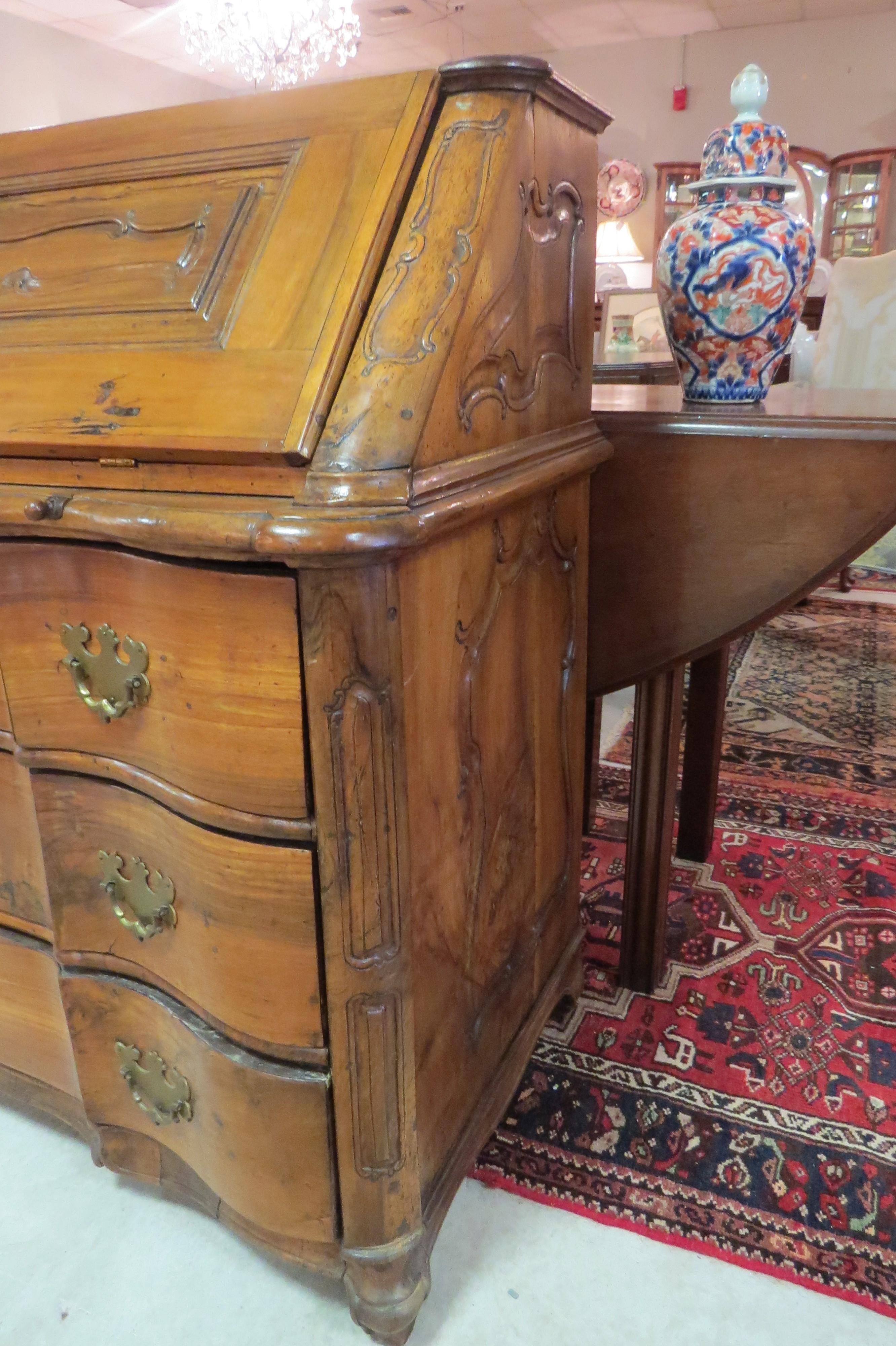 Italian Walnut Slant Top Desk  (SOLD)