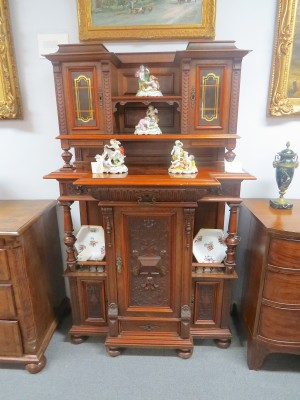 An Edwardian Style Double Tiered Cabinet
