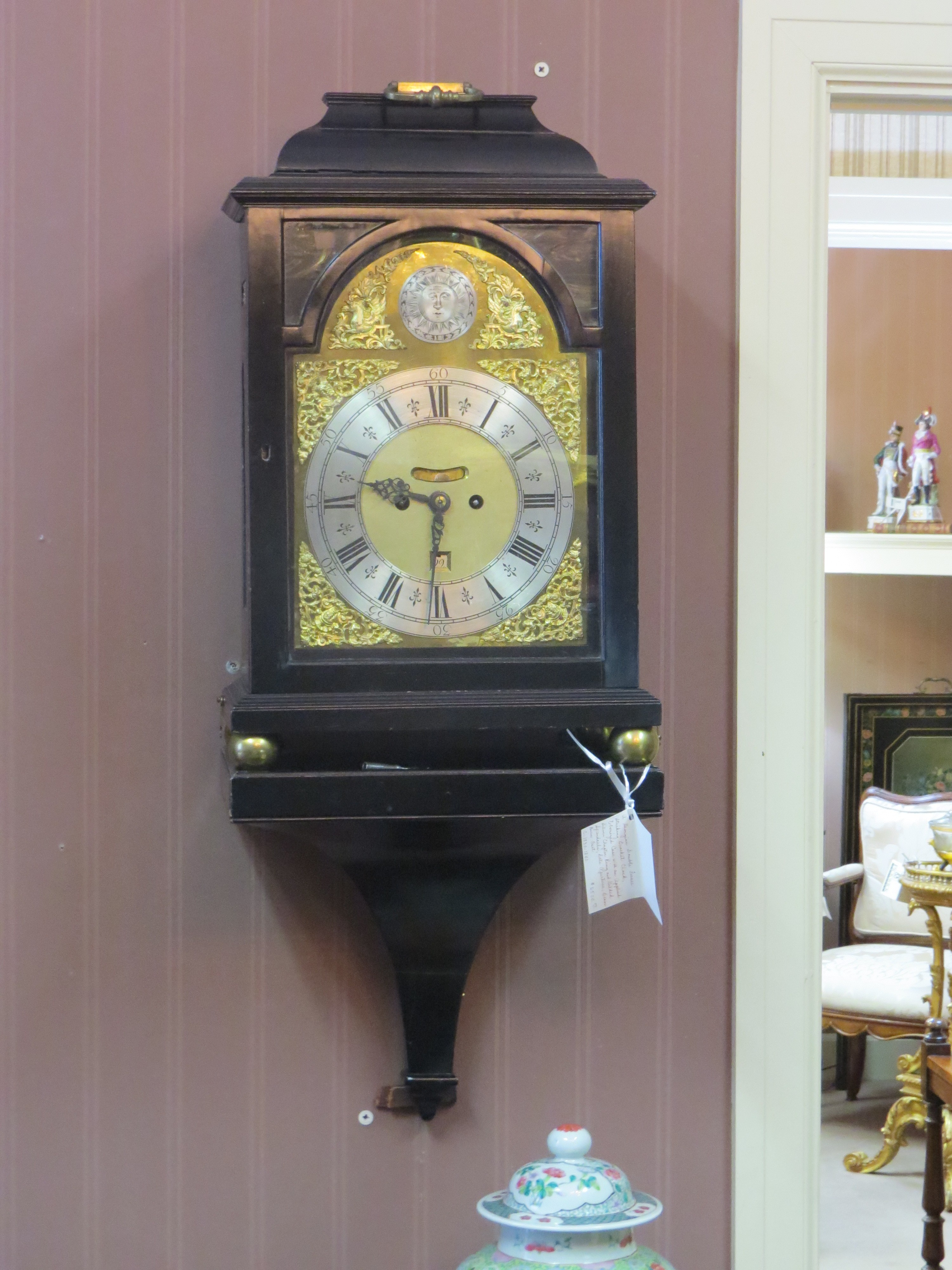 Georgian Double Fusee Striking Bracket Clock