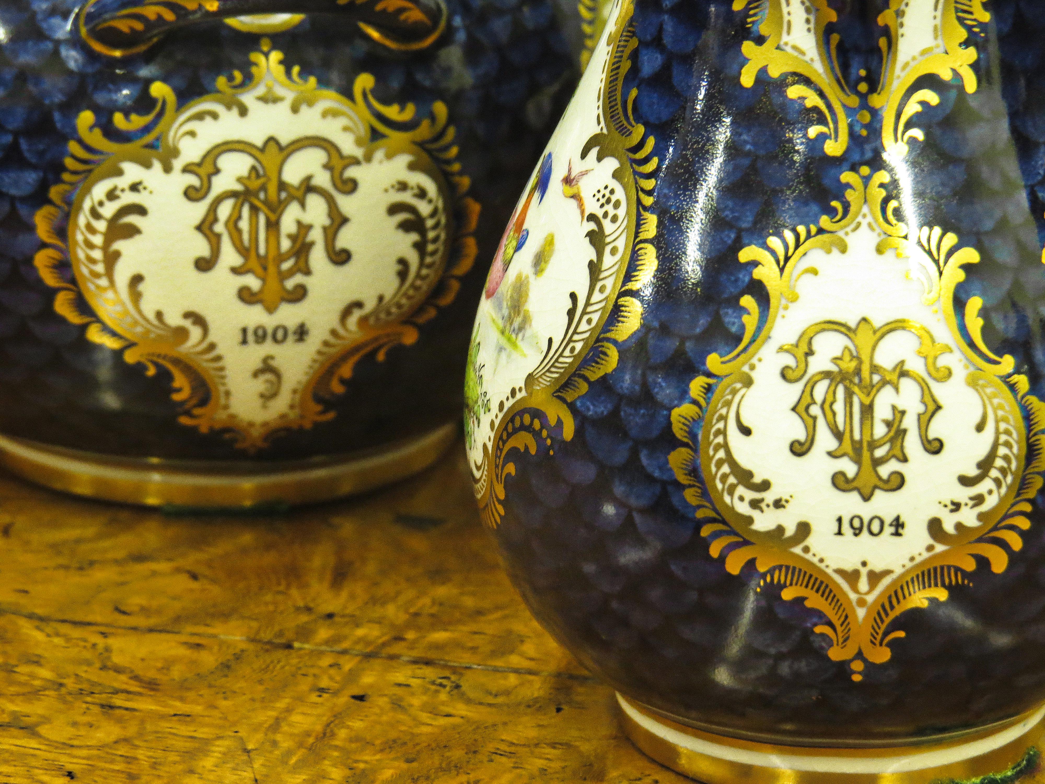 Royal Worcester Blue Scale Tea Service
