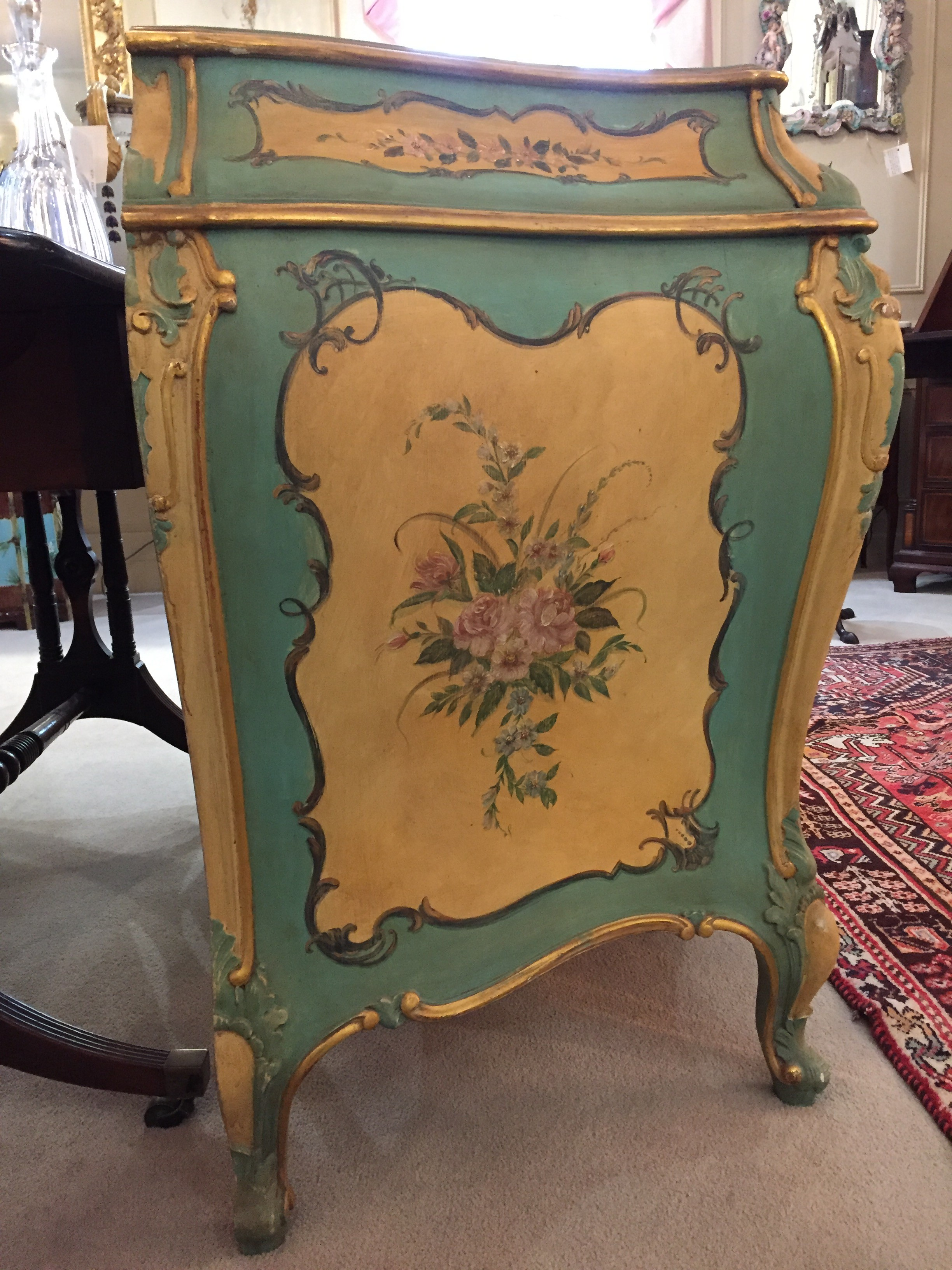 French Painted Bombé Chest