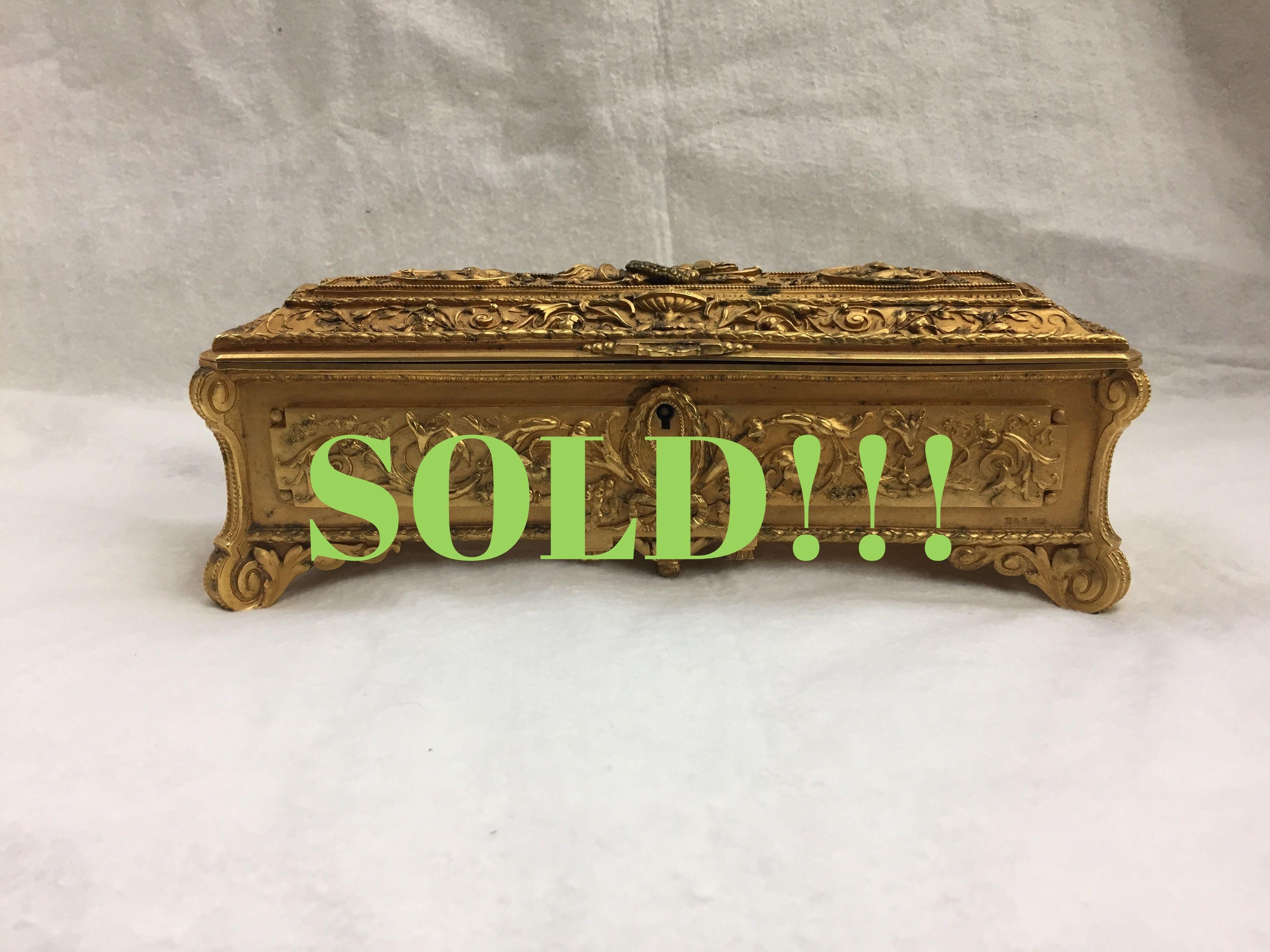 Bronze Jewelry Casket  (SOLD)