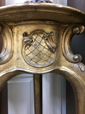Louis XV Style Gold Gilt Pedestal