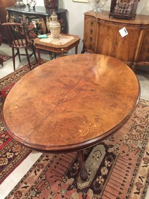 Oval Center Table on Pedestal
