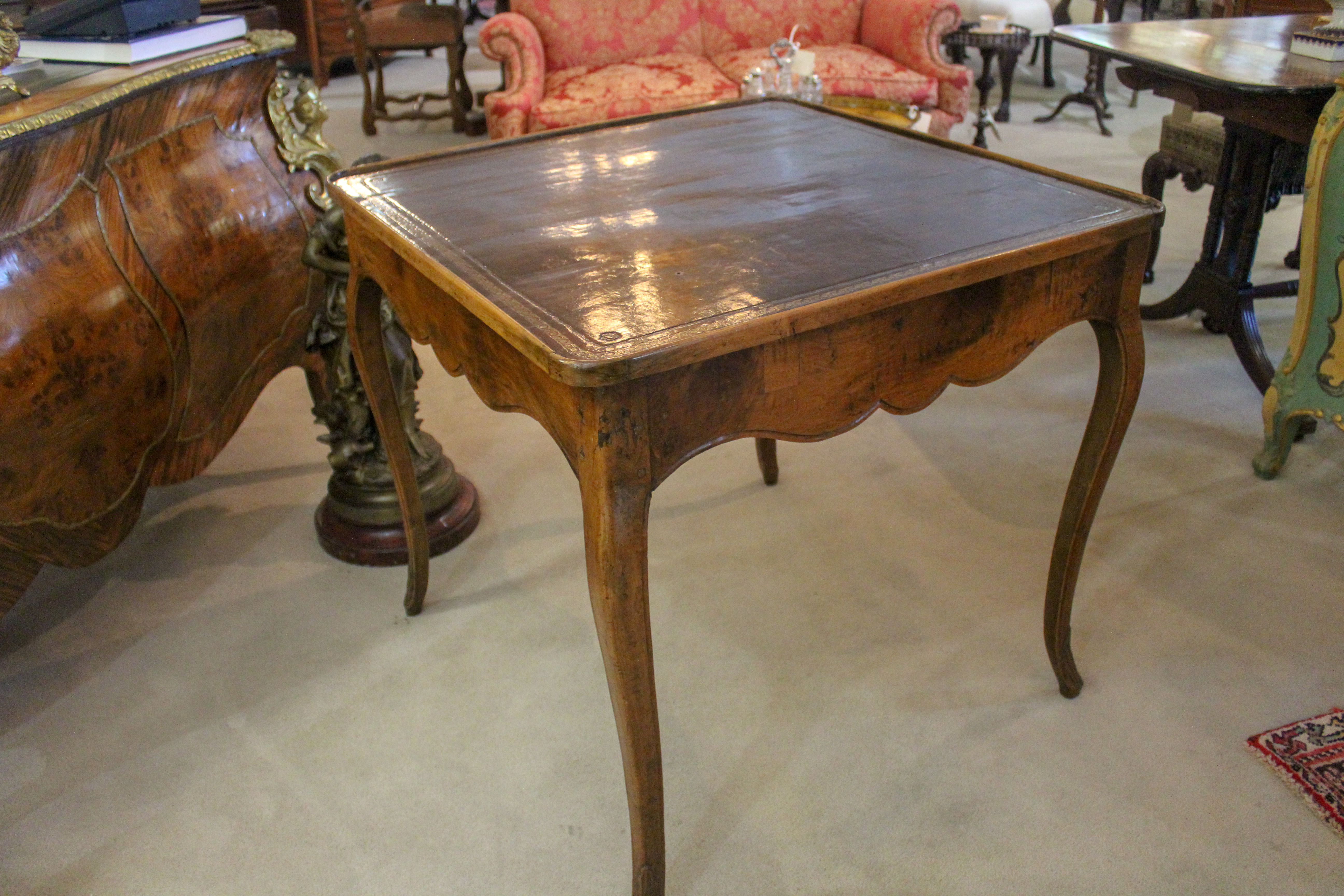 French Beechwood Game Table