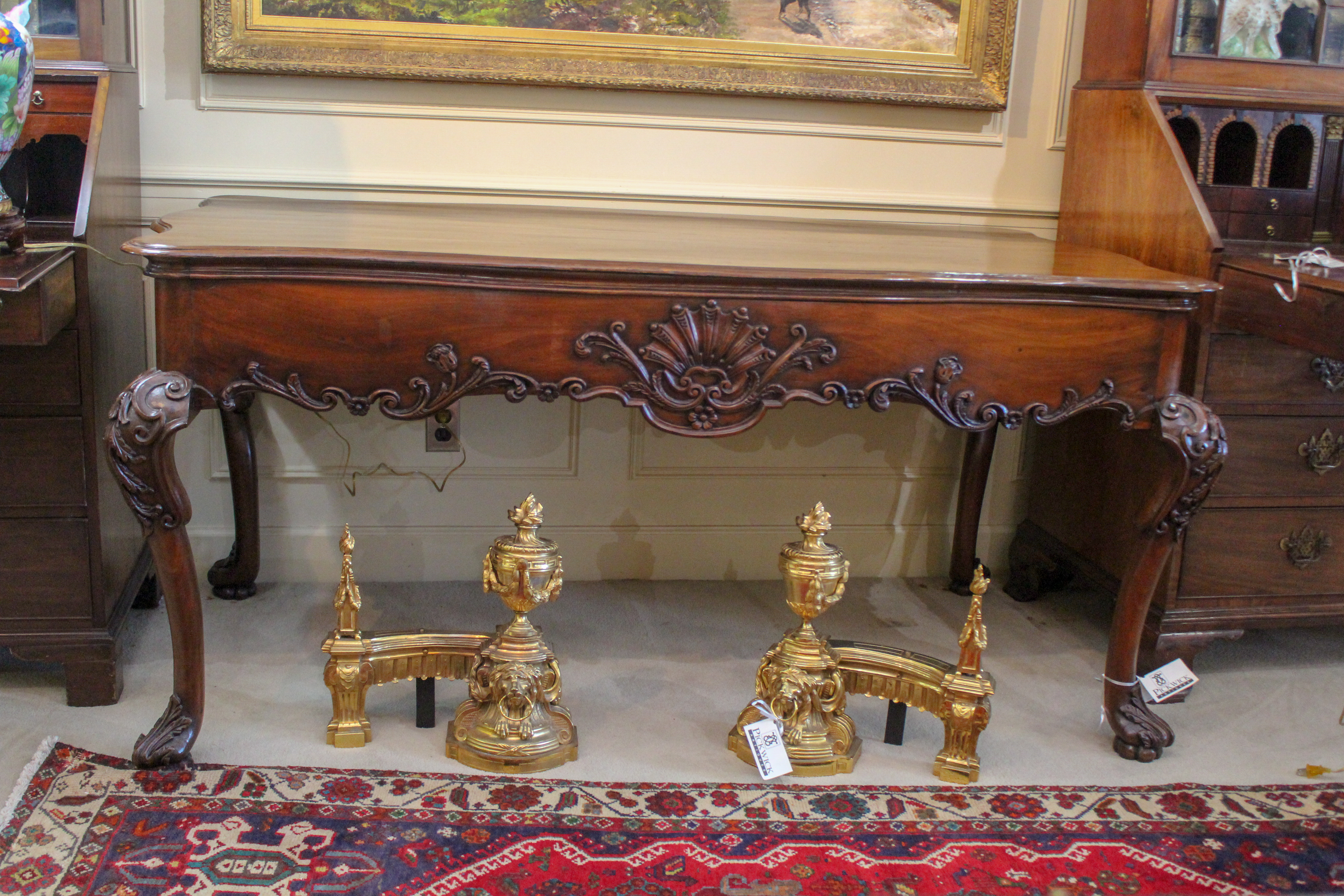 English Chippendale Style Library Table