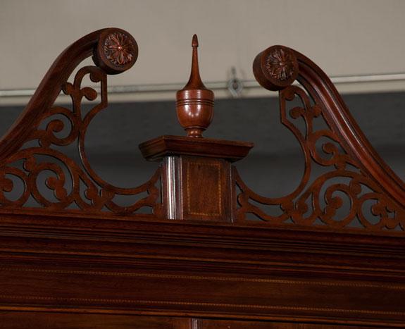 Chippendale Style Mahogany Bureau Bookcase