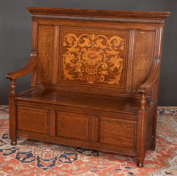Jacobean Style Oak Hall Bench