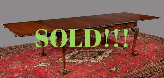 Chippendale Mahogany Dining Table  (SOLD)