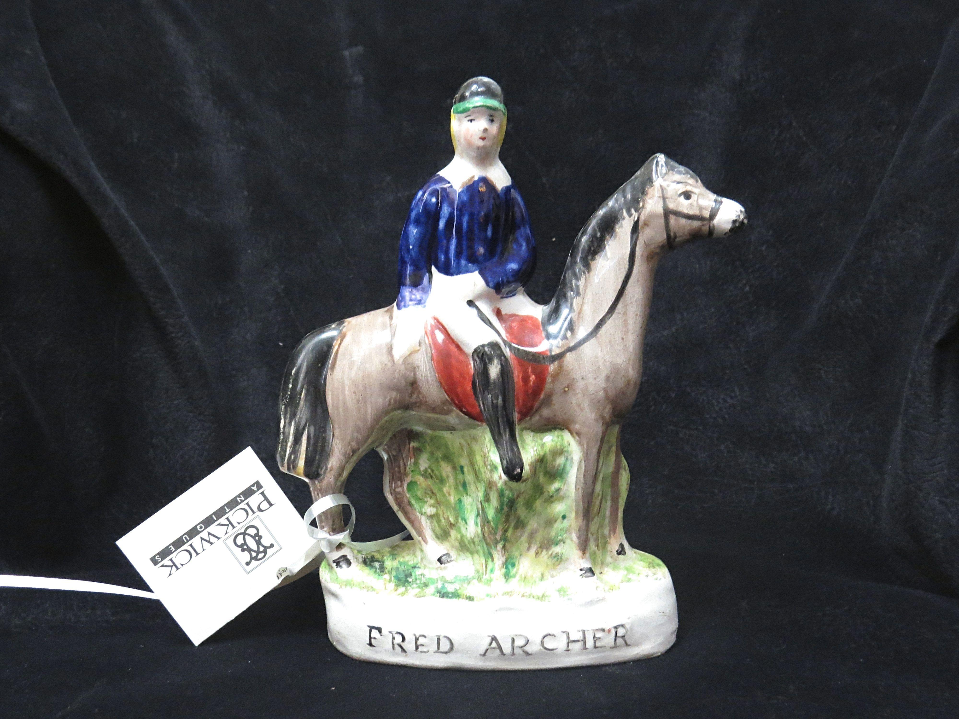 Staffordshire Figure of Fred Archer, English Flat Race Jockey