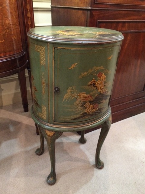 Green Chinoiserie Accent Table