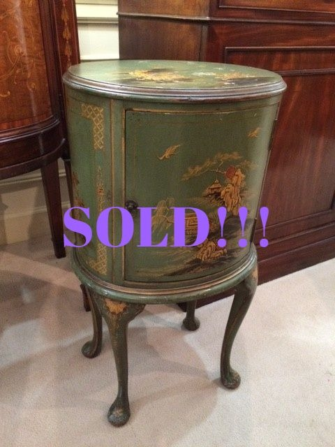Green Chinoiserie Accent Table  (SOLD)