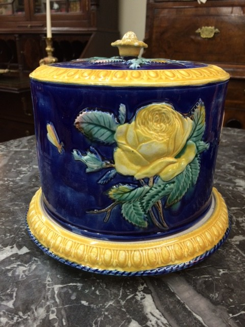 Majolica Cheese Keeper