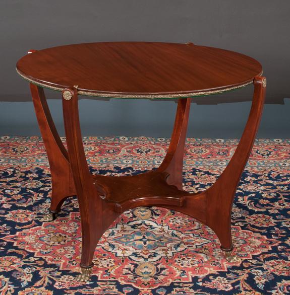 Art Deco Style Mahogany Circular Game Table