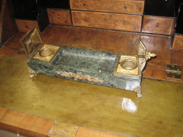 Bronze And Marble Ink Stand