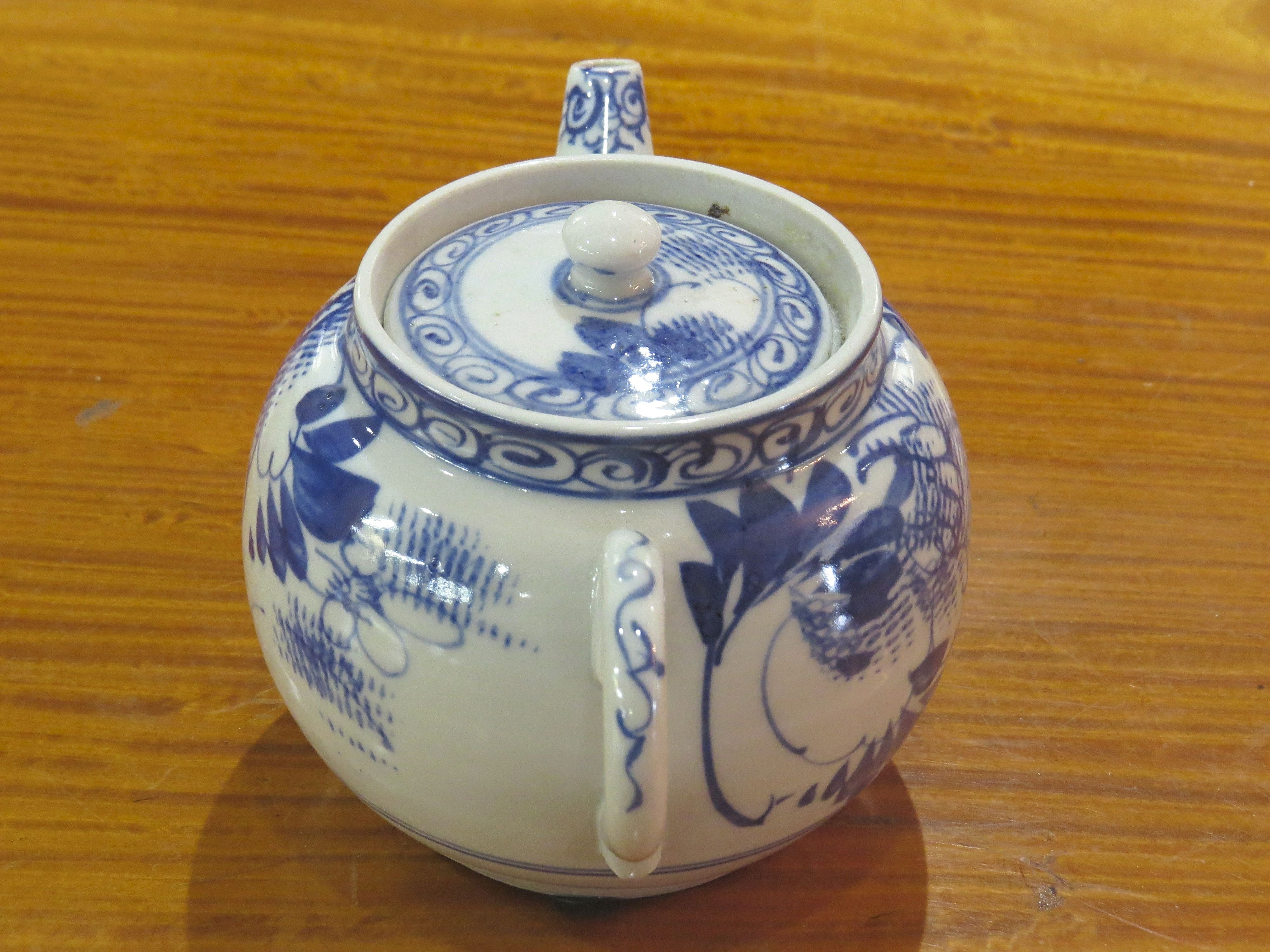 Chinese Export Blue & White Teapot
