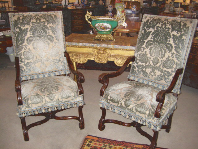 Pair Of Period Regence Armchairs