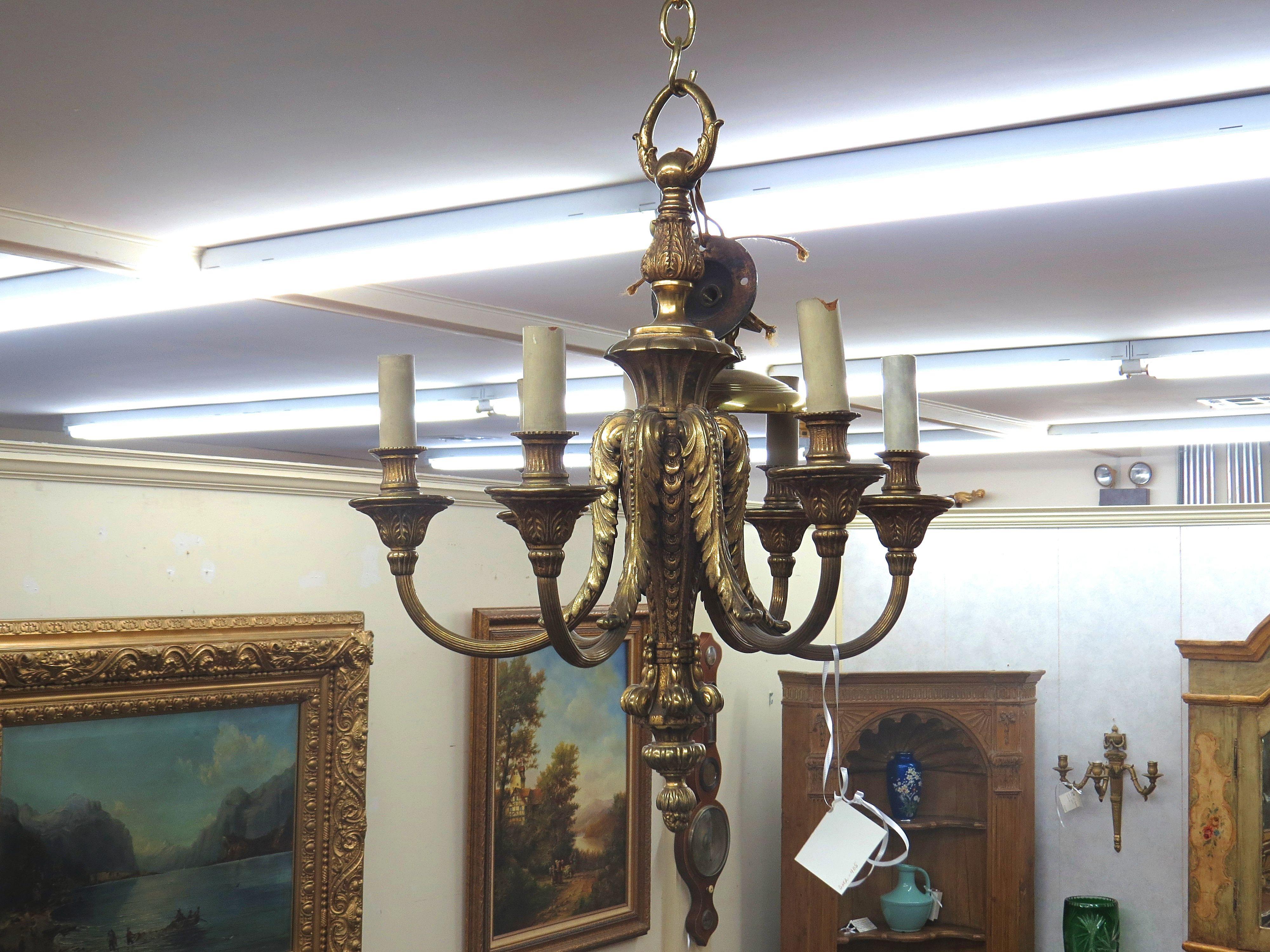 Louis XVI Style Bronze Chandelier