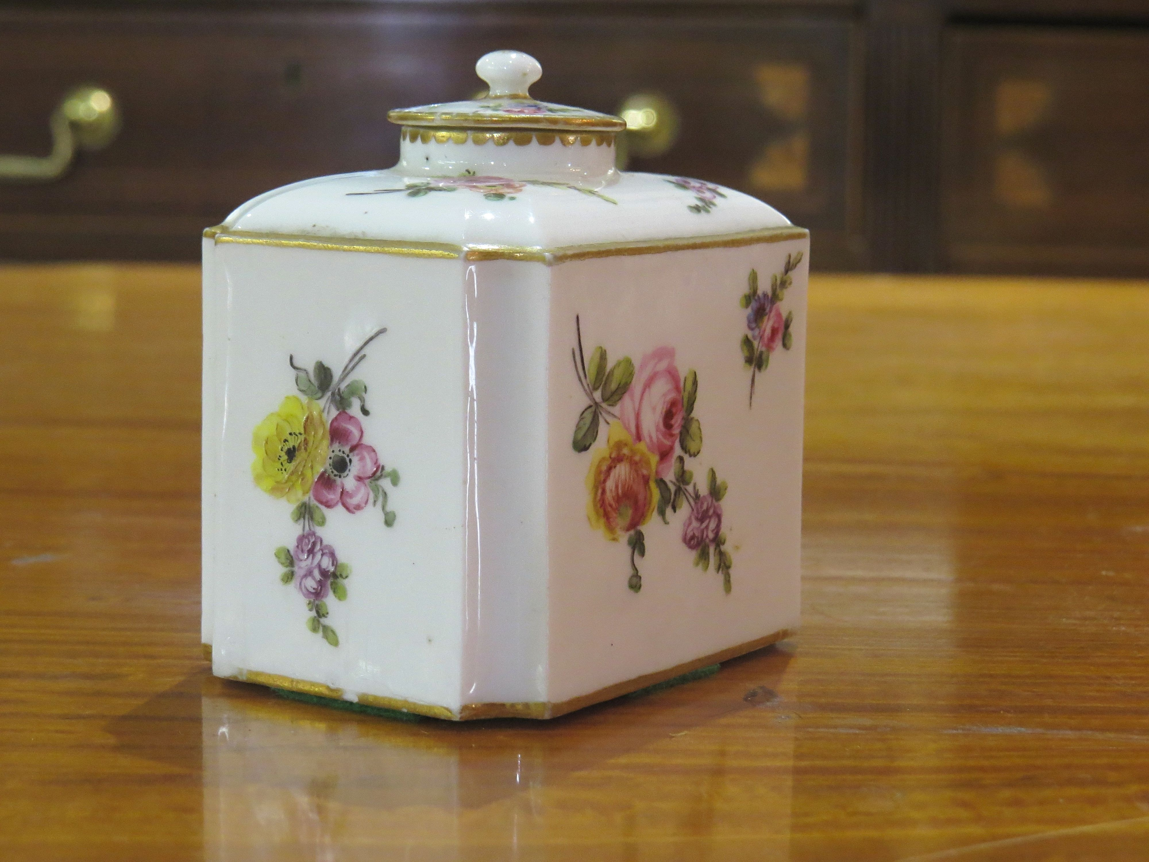 French Sevres Porcelain Tea Caddy with Cover