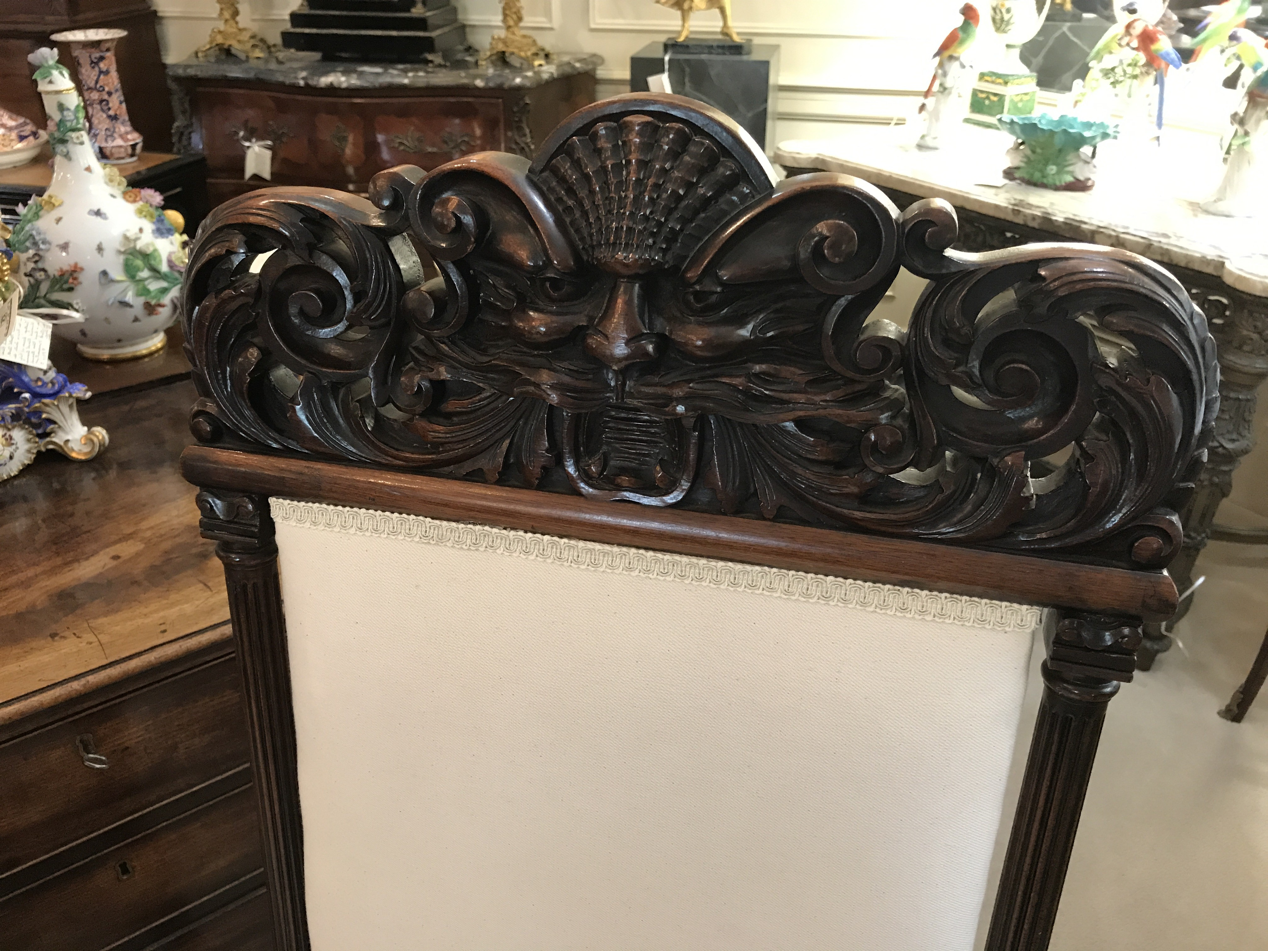 Pair of Mahogany Upholstered Side Chairs