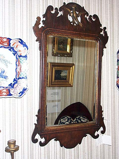 A Georgian Mahogany Mirror.