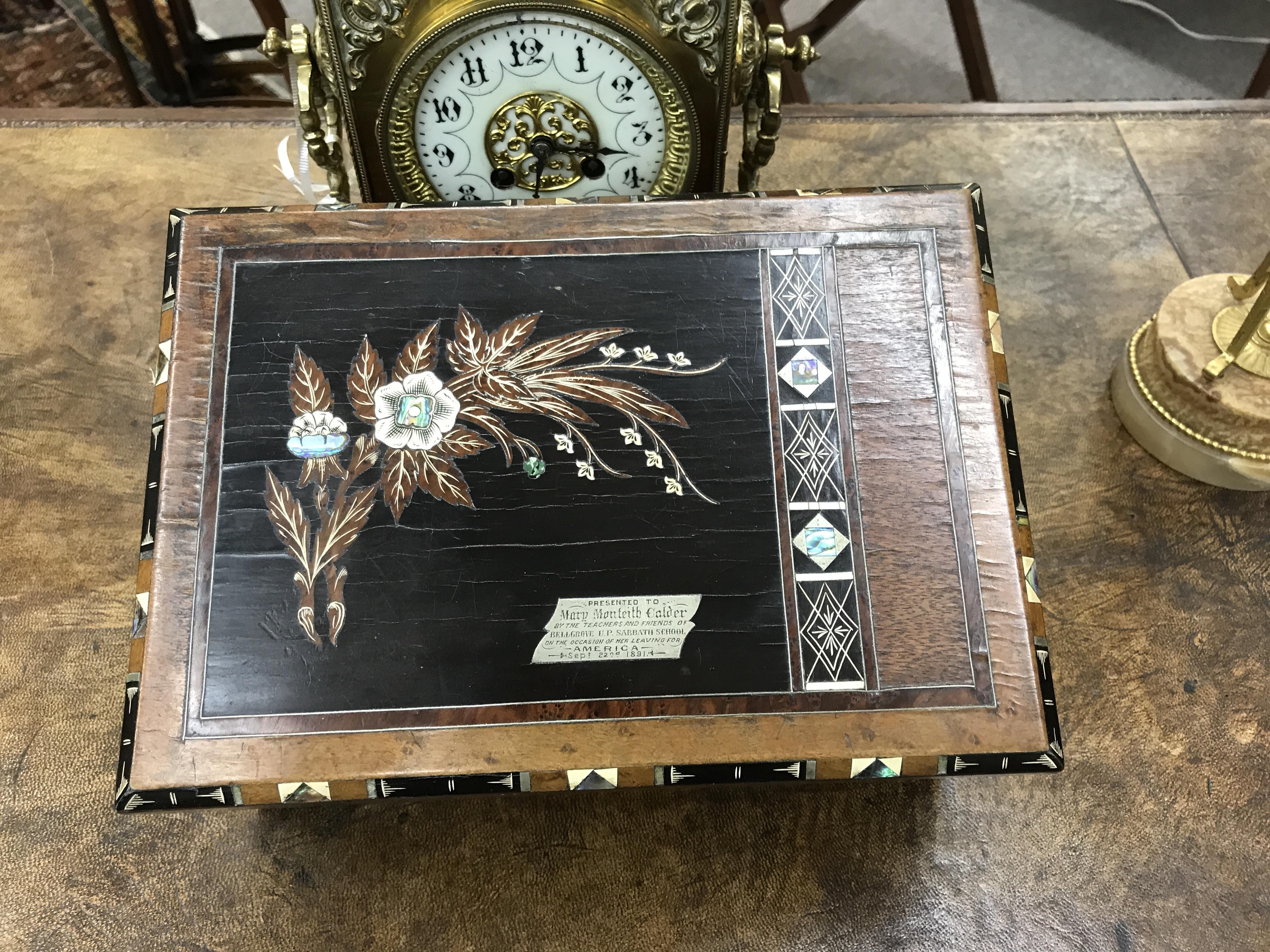 Inlaid Mahogany and Rose Wood Sewing Box