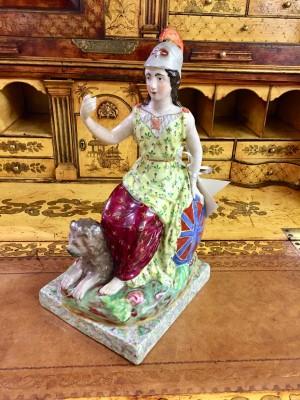 Staffordshire Porcelain Figure of Britannia