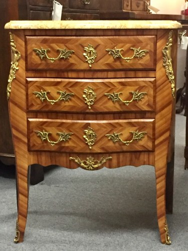 Pair of Louis XV Doré Bronze Mounted Commodes