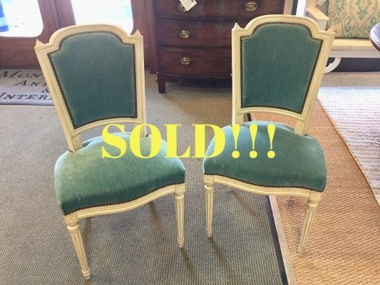 Set of 6 Polychrome Louis XVI Chairs  (SOLD)