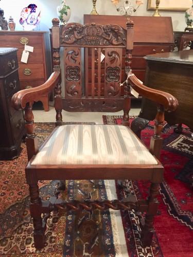 Jacobean Style Oak Armchair