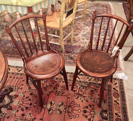 Set of Four Bent Wood Pub Chairs
