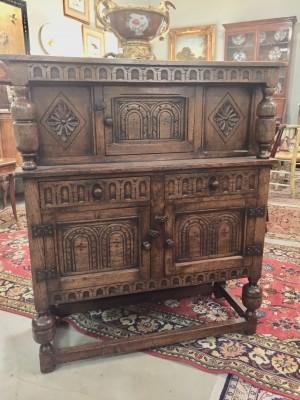 Jacobean Style Oak Court Cupboard