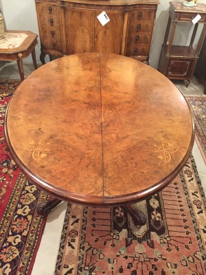 Oval Center Table on Pedestal
