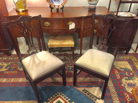 Set of 8 Chippendale Style Dining Chairs  (SOLD)