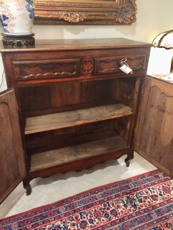 French Provincial Fruitwood Tall Buffet  (SOLD)