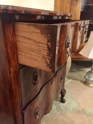 English Queen Anne Style Walnut Block Front Chest  (SOLD)
