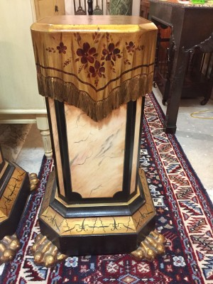 Pair of Italian Painted and Carved Pedestals