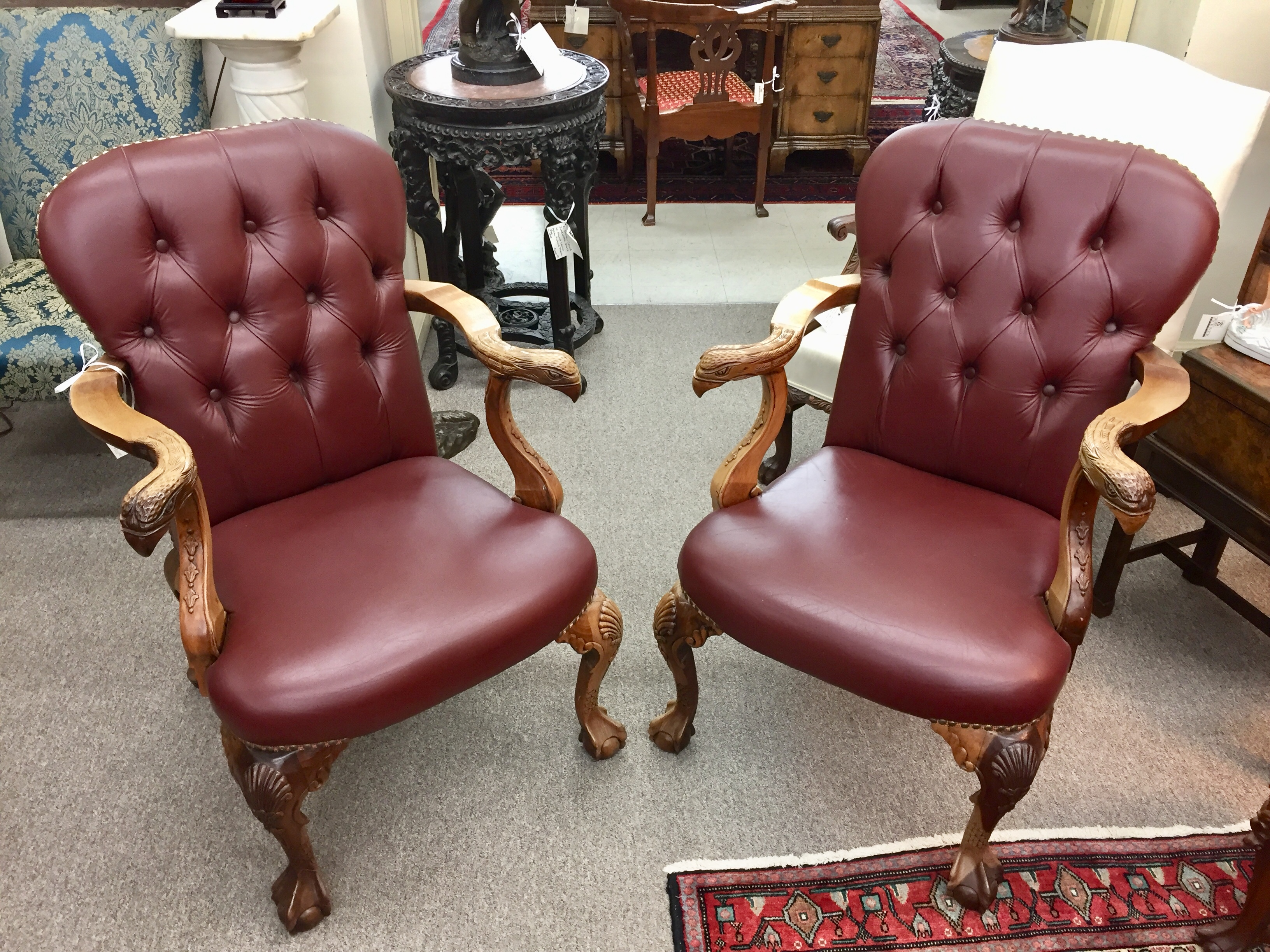A Pair of Georgian Walnut Chairs