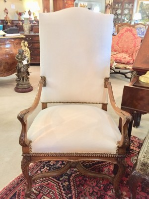 A Pair of French Country Arm Chairs  (SOLD)