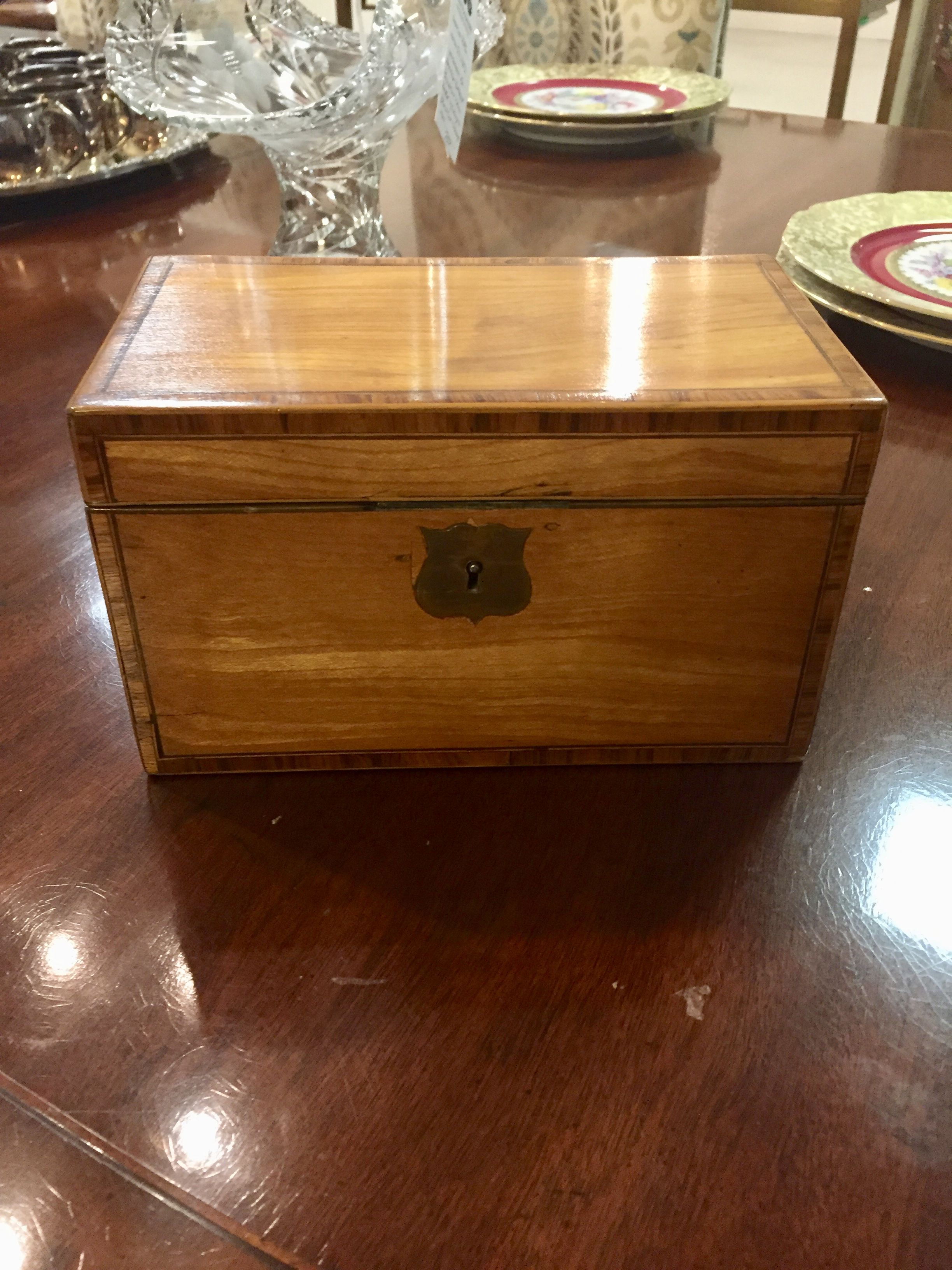 George IV Double Compartment Tea Caddy