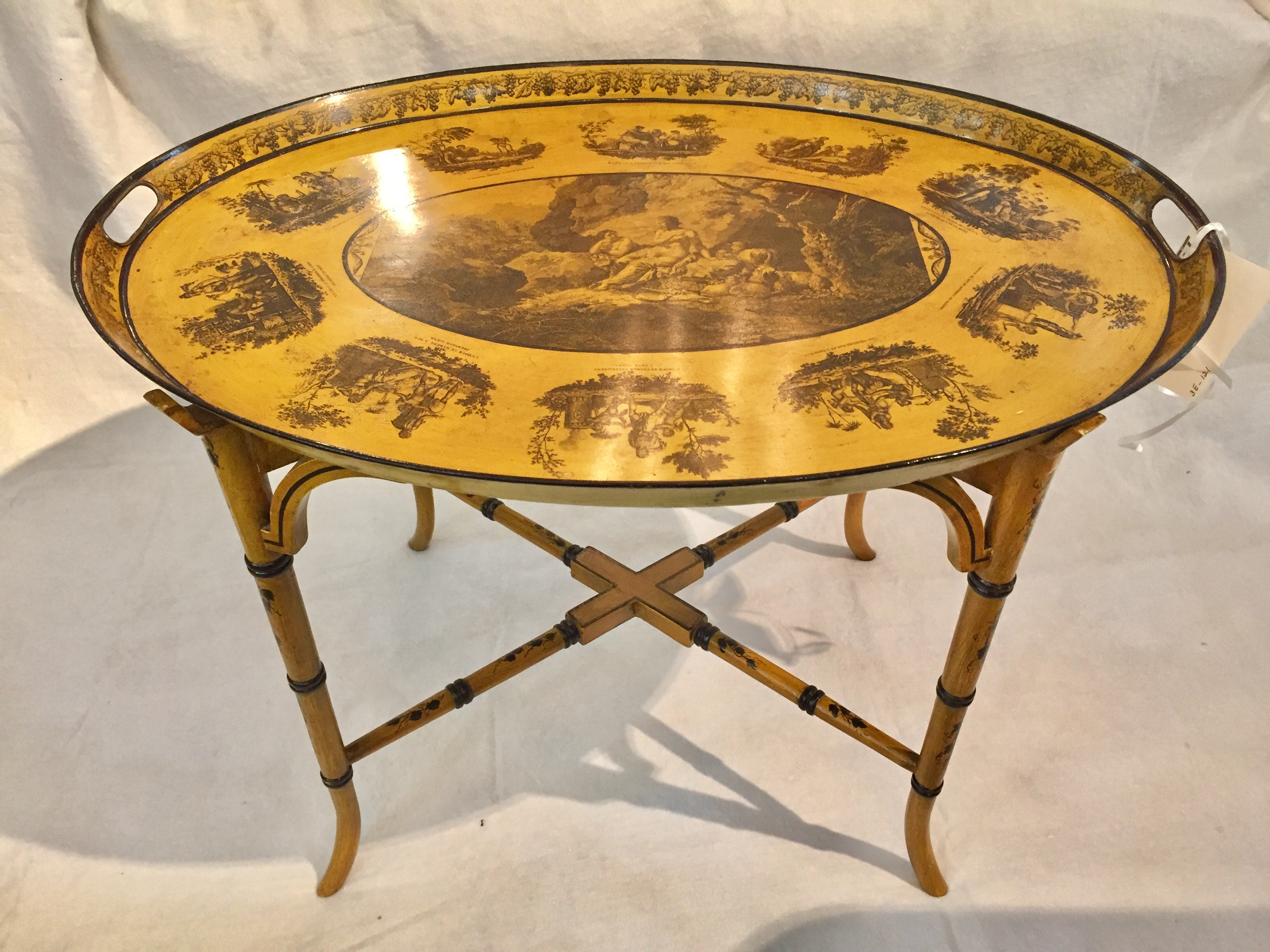 French Decorated Tole Tray