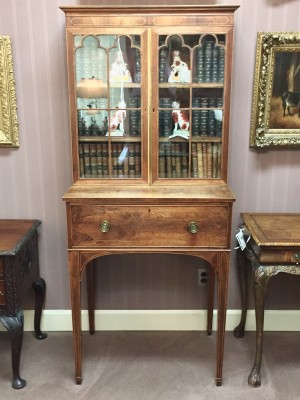 Rosewood Secrétaire Cabinet on Stand