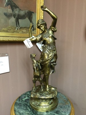 "Bronze Statue of a Young Gypsy Woman, ""Esmeralda"" by Adrien Etienne Gaudez"